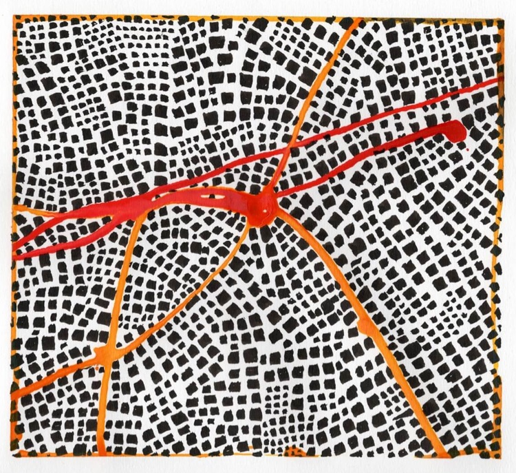 Untitled (Red Routes I)
