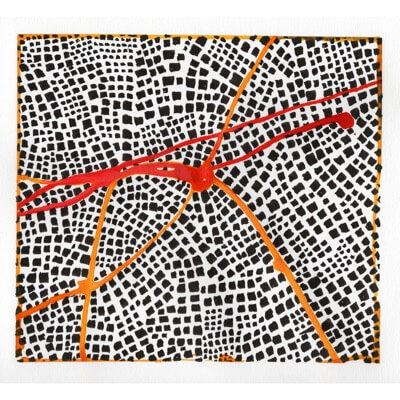 Untitled (Red Routes I) - drawing