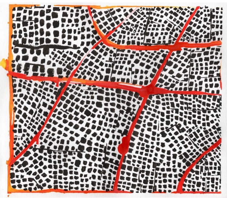 Untitled (Red Routes III)