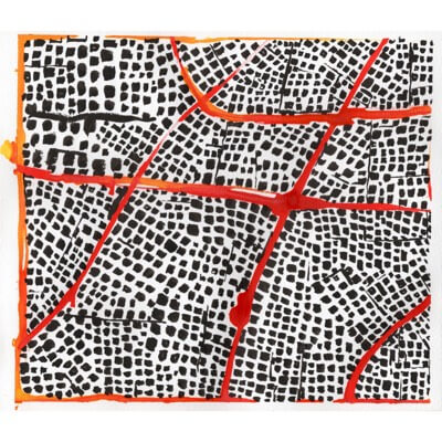 Untitled (Red Routes III) - drawing
