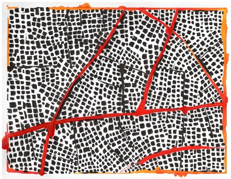 Untitled (Red Routes IV)