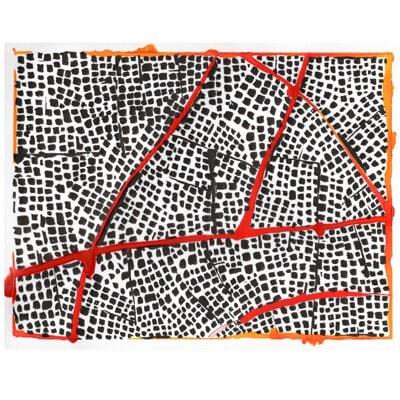 Untitled (Red Routes IV) - drawing