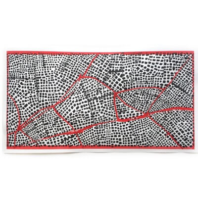 Untitled (Red Routes Panorama) - drawing
